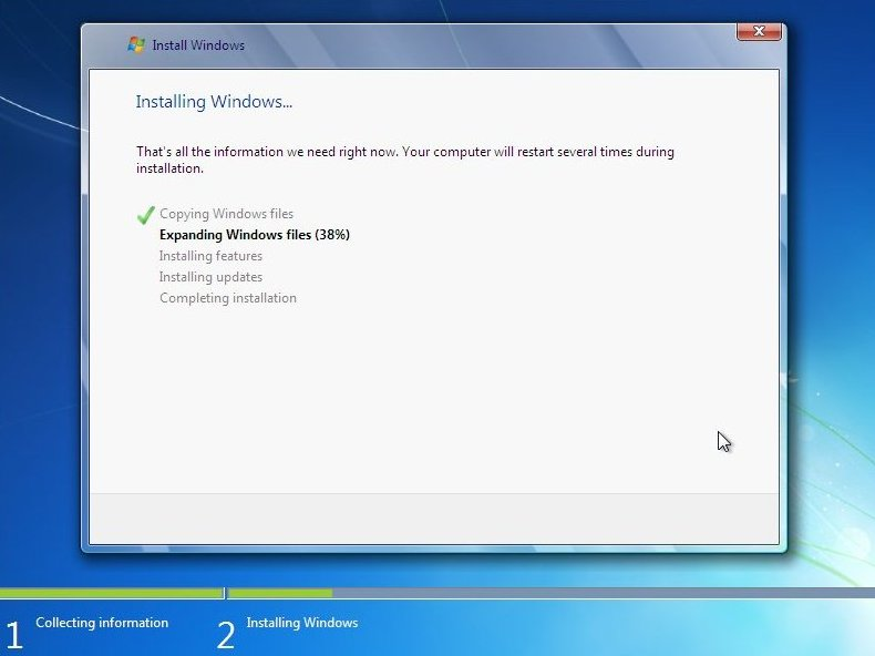 Fresh & clean Install of Windows 7 Home Premium on a new hard drive