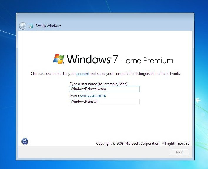Format And Reinstall Windows  Home Premium Without Cd